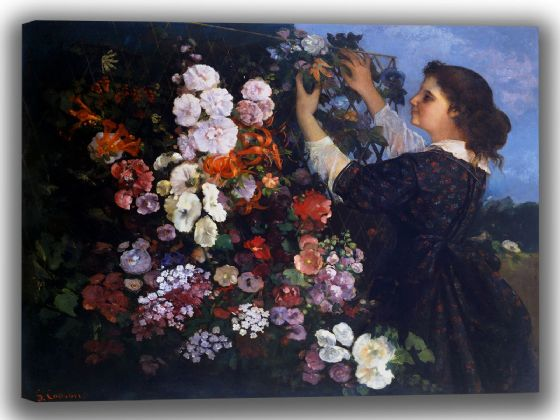 Courbet, Gustave: Trellis. Fine Art Canvas. Sizes: A4/A3/A2/A1 (004045)